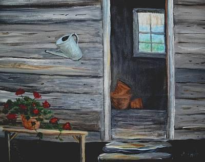 Potting Painting - The Potting Shed by Glenda Barrett