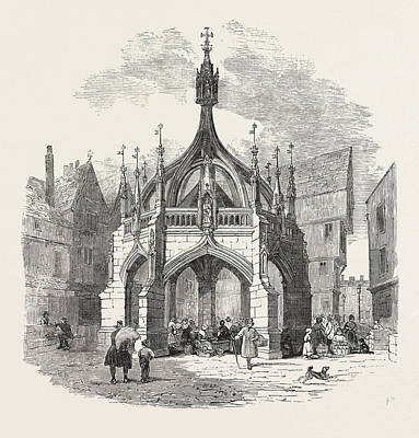 Restored Drawing - The Poultry-cross, At Salisbury, Restored by English School