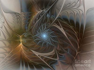 Lyrical Abstractions Digital Art - The Power Inside-abstract Fractal Art by Karin Kuhlmann