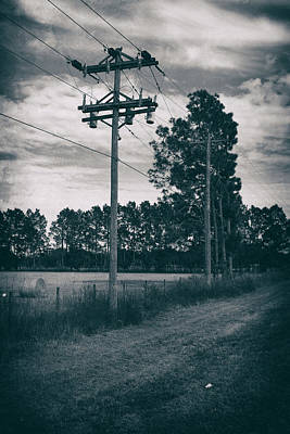 The Power Lines  Art Print