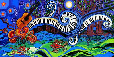 Music Paintings - The Power Of Music by Genevieve Esson