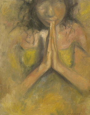 Painting - The Power Of Prayer - Blind Faith by Stephanie Broker