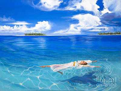 Subliminal Painting - The Power Of Rest by Lynne Barletta