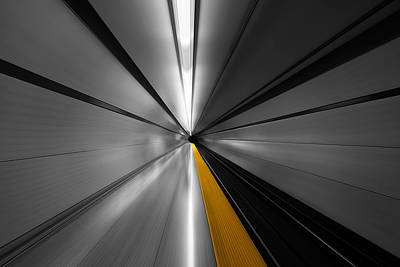 Railroad Station Photograph - The Power Of Speed by Roland Shainidze