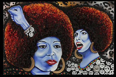 Painting - The Powerful Mind Of Angela Davis by Nannette Harris