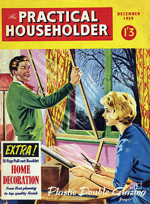 50s Drawing - The Practical Householder  1959 1950s by The Advertising Archives