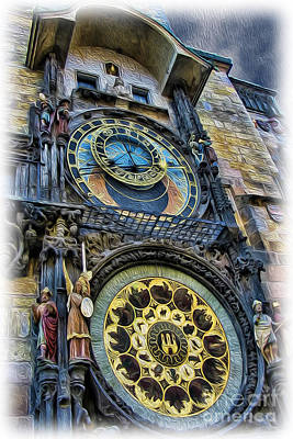 Photograph - The Prague Astronomical Clock II by Lee Dos Santos