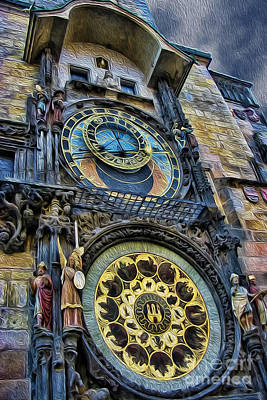 Photograph - The Prague Astronomical Clock IIi by Lee Dos Santos
