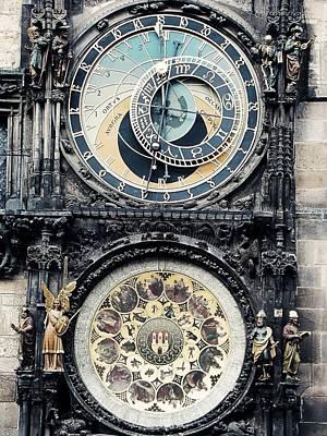 The Prague Orloj Art Print by Zinvolle Art