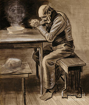 Blessings Drawing - The Prayer by Vincent Van Gogh