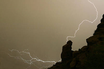 Photograph - The Praying Monk Lightning Strike by James BO Insogna