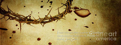Jesus Christ Icon Photograph - The Precious Blood by Stephanie Frey