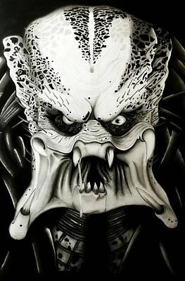 Creepy Mixed Media - The Predator by Scott McIntire