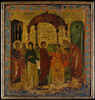 The Presentation In The Temple Art Print by Byzantine Painter