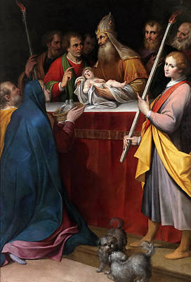 Presentation Painting - The Presentation In The Temple by Camillo Procaccini