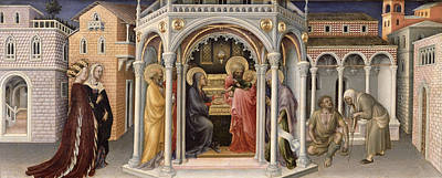 Temple Painting - The Presentation In The Temple by Gentile da Fabriano