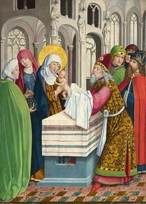 Presentation Painting - The Presentation In The Temple by Master of Liesborn