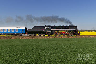 Train Photograph - The Pride Of The Czech Locomotive Design by Christian Spiller