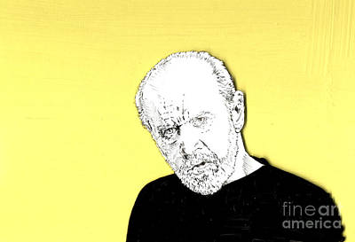 The Priest On Yellow Art Print by Jason Tricktop Matthews