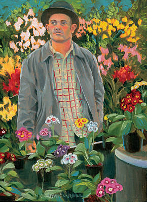 Chelsea Painting - The Primrose Man by Marguerite Chadwick-Juner