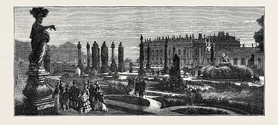 The Prince And Princess Of Wales At Chatsworth The French Art Print