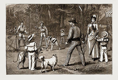 Tennis Art Drawing - The Prince Of Wales At Baden-baden, The Jubilee by Litz Collection