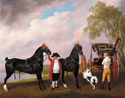 The Prince Of Wales Phaeton Art Print by George Stubbs