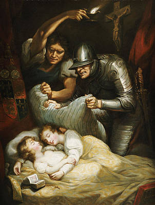 Tower Of London Photograph - The Princes In The Tower Oil On Canvas by James Northcote
