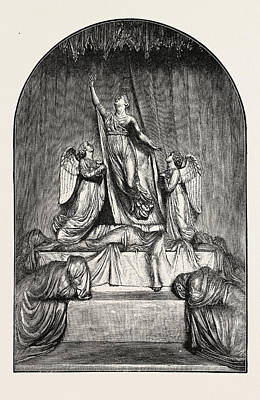 Charlotte Drawing - The Princess Charlotte Monument. The Princess Charlotte by Welsh School