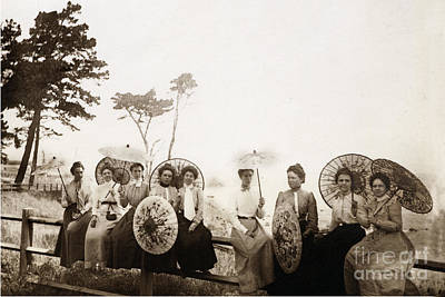 Photograph - The Princess For An Early Feast Of Lanterns Near Lovers Point Pacific Grove Circa 1910 by California Views Archives Mr Pat Hathaway Archives