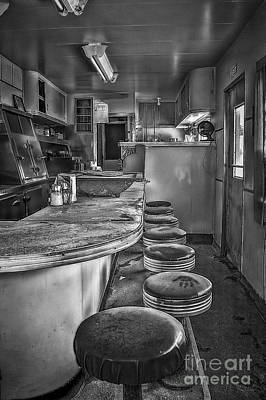 Old Diner Bar Stools Photograph - The Print by Medicine Tree Studios