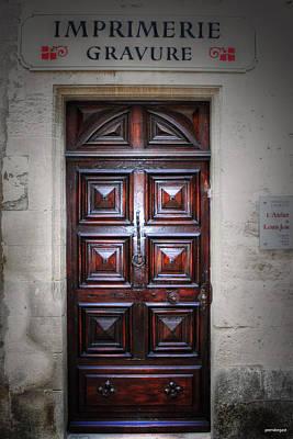 The Print Shop Door France Art Print