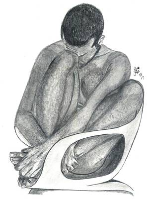 Male Nude Drawing Drawing - The Prisoner by Bobby Dar