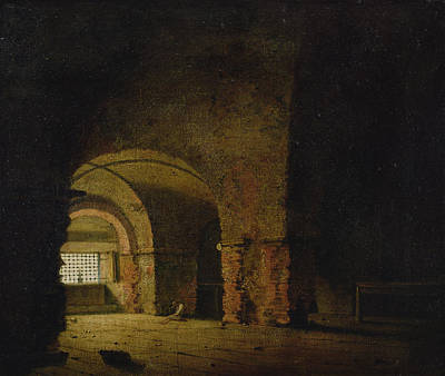 Dungeon Photograph - The Prisoner, C.1787-90 Oil On Canvas by Joseph Wright of Derby