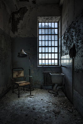 Art Print featuring the photograph The Private Room - Abandoned Asylum by Gary Heller