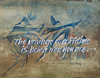 Joseph Mixed Media - The Privilege Of A Lifetime by Sally Penley