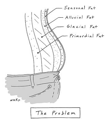 Drawing - The Problem -- A Diagram Of Various Layers Of Fat by Kim Warp