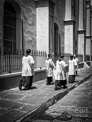 Photograph - The Procession - Black And White by Kathleen K Parker