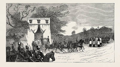 Camden Drawing - The Procession Leaving Camden House For St by English School