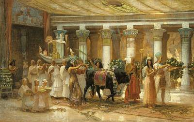 The Procession Of The Sacred Bull Art Print by Frederick Arthur Bridgman
