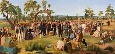 Flagpole Painting - The Proclamation Of South Australia 1836 by Mountain Dreams