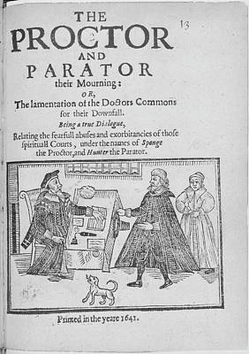 Illustration Technique Photograph - The Proctor And Parator by British Library