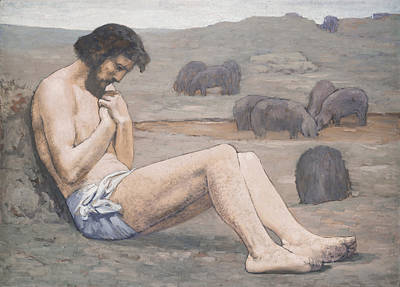 Famine Painting - The Prodigal Son by Pierre Puvis de Chavannes