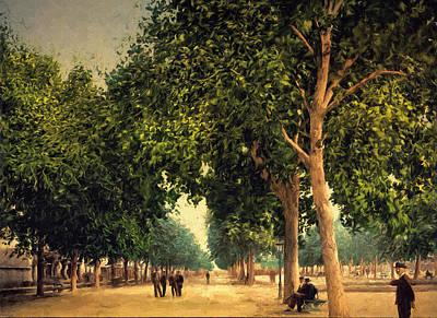The Promenade Art Print by John K Woodruff
