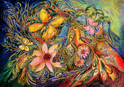 Kabbala Painting - The Promised Land by Elena Kotliarker