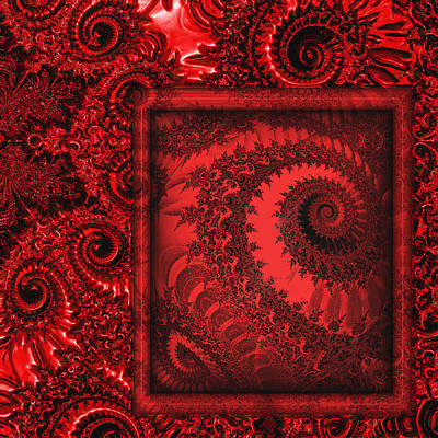 Art166 Digital Art - The Proper Victorian In Red  by Wendy J St Christopher