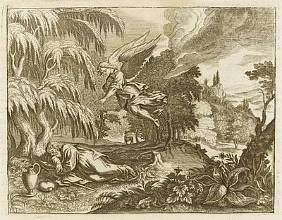 The Prophet Elijah Flees The  Anger Art Print