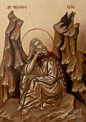 Art Print featuring the painting The Prophet Elijah by Olimpia - Hinamatsuri Barbu