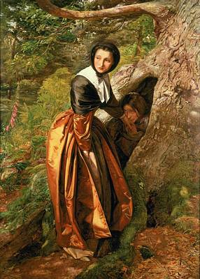 Hollow Painting - The Proscribed Royalist, 1651, 1852-53 by Sir John Everett Millais