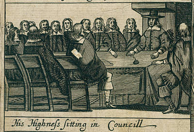 The Protectoral Council Art Print by British Library